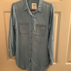 Sonoma chambray button up top size medium GUC
